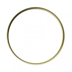Circle Gold 1 Inch Lapel Pin