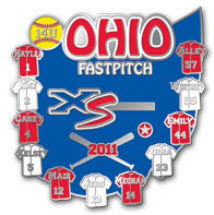 Custom Softball Trading Pins