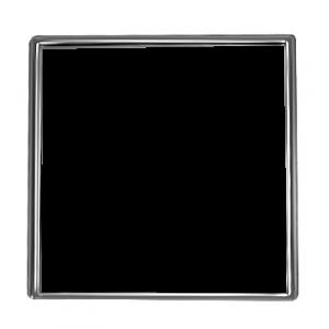 Square Silver 1 Inch Pin